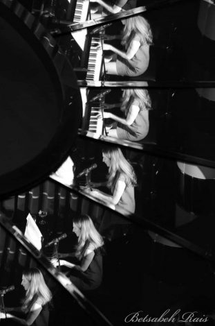 Alba on piano at Crazy Coqs Brasserie Zedel